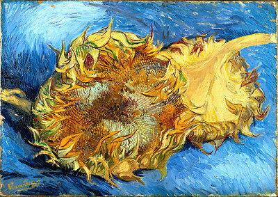 in various sizes Sunflowers by Vincent Van Gogh Giclee Canvas Print