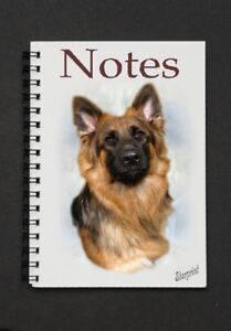 German-Shepherd-Dog-Notebook-Notepad-with-small-image-on-every-page-by-Starprint