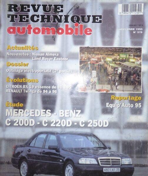 Constructief Neuf Stock Revue Technique Mercedes Classe C C200d C220 C250 Diesel Rta 578 1995 Duidelijk En Onderscheidend