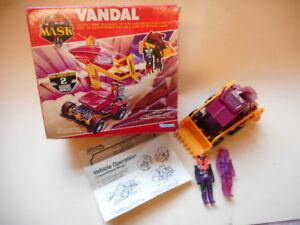 Masque vintage des années 80 M.a.s.k Boîte à figurines Kenner Vandal Venom Venom Action Boxed Boxed