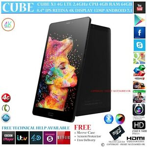 CUBE-X1-4G-LTE-4GB-RAM-DECA-Core-GPS-64GB-8-4-034-Retina-ANDROID-7-TEL-TABLET-PC