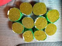 10 Bucilla Gold/green Latch Hook Pre-cut Rug Yarn Color 223 100% Acrylic