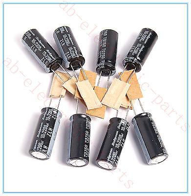 4pcs 2200uf 10v Radial Electrolytic Capacitor 10v2200uf Panasonic JAPAN