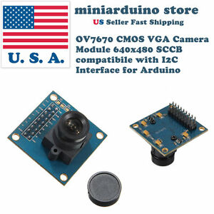 VGA OV7670 CMOS Camera Module Lens CMOS 640X480 SCCB I2C Interface for Arduino