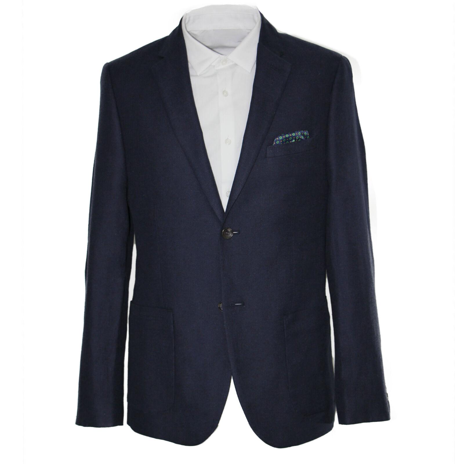 Harry Braun Linen Cotton Classic Fit Blazer in Navy 540300113