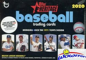 2020-Topps-Heritage-Baseball-EXCLUSIVE-HUGE-Factory-Sealed-Blaster-Box-Loaded