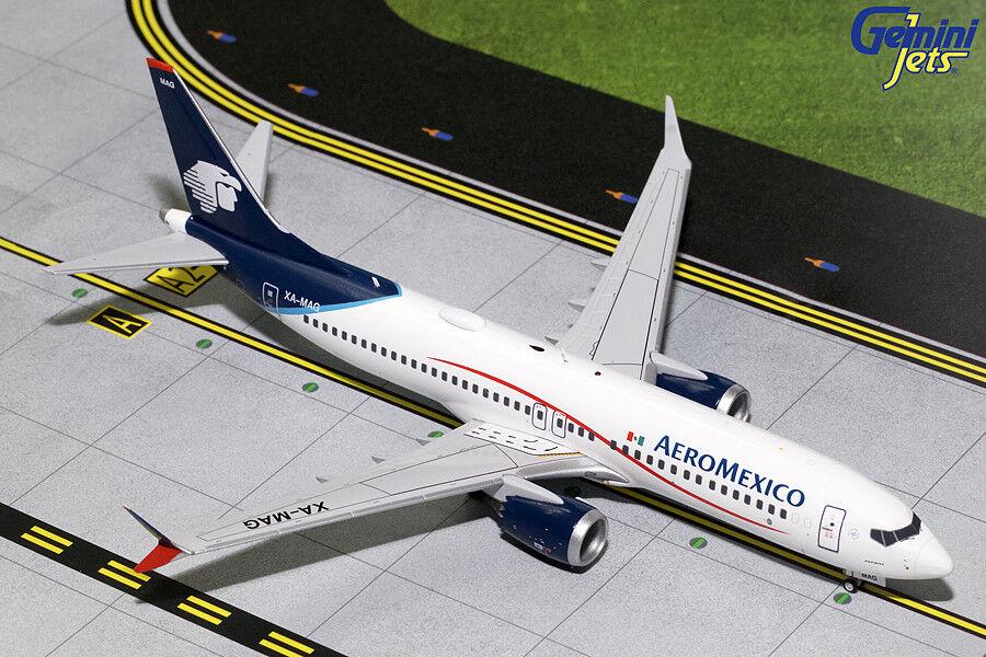 Die aeromexico boeing 737 max. 8 xa-mag gemini - jets g2amx708 skala  200