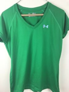 ade48c58 Under Armour Women's Semi Fitted V Neck Athletic Running Tennis Top ...