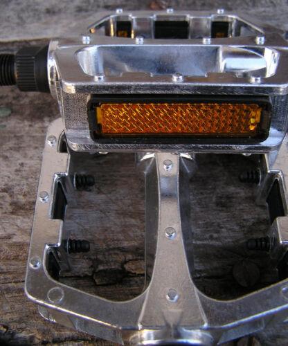 "New 1//2/"" Forged Aluminum-alloy Platform PEDALS silver fit 1-pc cranks Schwinn"