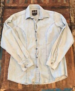 053b89d2ffe Biker Blues Harley Davidson Denim Button Front shirt Women s Medium ...