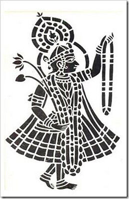 A4 A3***NEW*** A5 Mosaic Indian Dancer 190 micron Mylar Stencil  sturdy