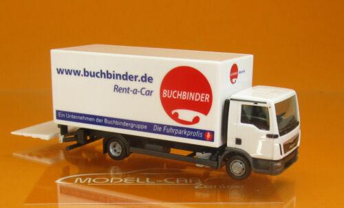 Herpa 310598 MAN TGL Koffer-LKW m.Ladew Buchbinder Scale 1 87