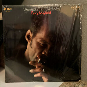 """PERCY MAYFIELD - Weakness Is A Thing Called Man - 12"""" Vinyl Record LP - EX"""
