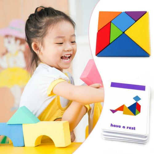 Wooden Variable Tangram Jigsaw Toys Children Kids Early Education Puzzle Toys