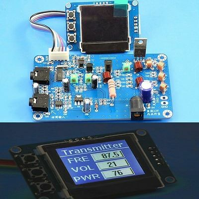 5W FM Transmitter Radio Station PLL Stereo MAX power 7W Digital frequency KITS