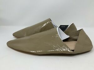 122e0fb904 Zara Women's Patent Leather Babouches Flats Shoes EU 39 US 8 Taupe ...