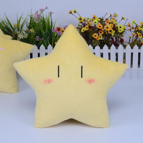 Gelb Sterne Star emoji Stofftiere Pillow Sofa Dekokissen Geschenk Sweet cute Neu