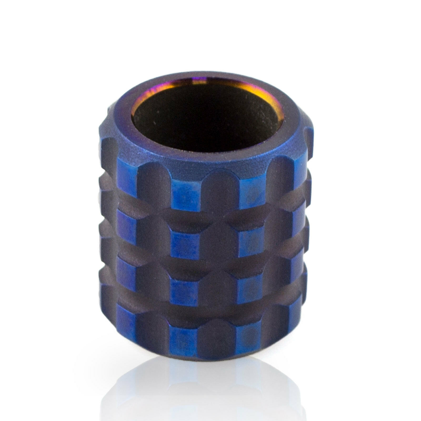 Cool Round Paracord Titanium Bead for Making Custom EDC Stuff Flashlight Lanyard