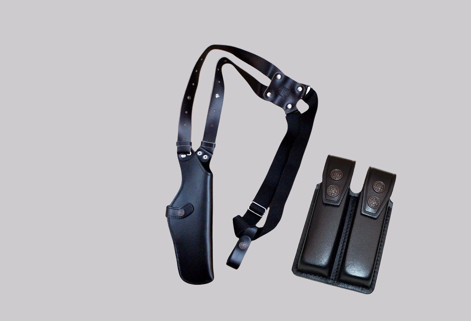 K 45206 Blck Funda de Hombro & doble bolsa del Mag Para Semi-autos hasta 5  hecho a mano