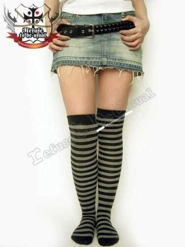 Punk Gothic Lolita KNIT OVER KNEE STRIPE STOCKING Sock