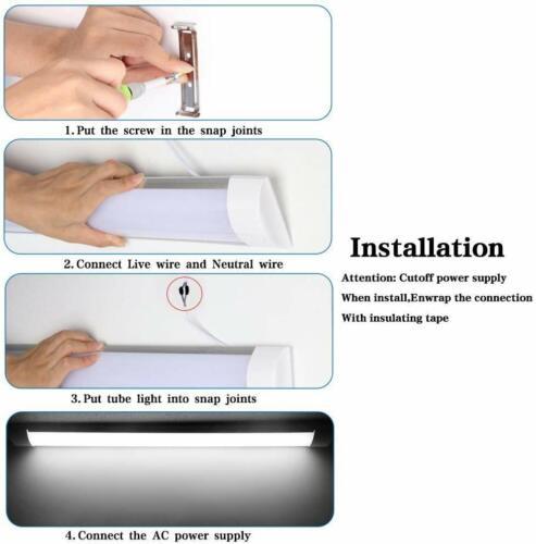 30W 3FT 900mm Slim LED Wide Batten Tube Light Ceiling Strip Bar Cool White