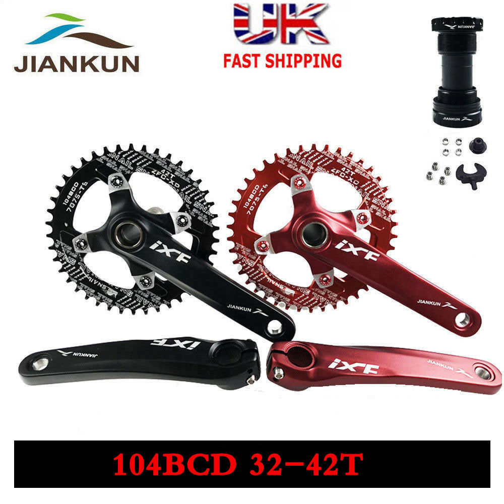 Bcd MTB Bike Crankset 170mm Crank  + Chainring + BB Round Oval Chainset  promotions