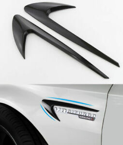 2x-Mercedes-Auto-Benz-AMG-Side-wing-Fender-grille-sticker-Emblem-for-Benz-E-S-C