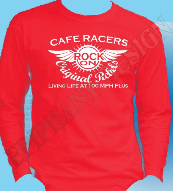 Greasers T-Shirt Rockers Mens Original Design Motor biker Rock /& Roll 50/' 60/'s