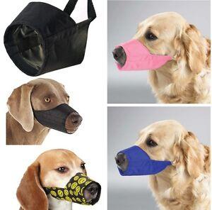 NYLON-DOG-MUZZLE-Grooming-No-Bite-All-Sizes-Adjustable-Guardian-Gear-Fabric-Anti