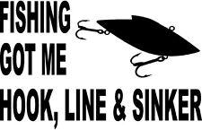 vinyl decal sticker got bait fishing hook worm boat water lake bass cat 1038