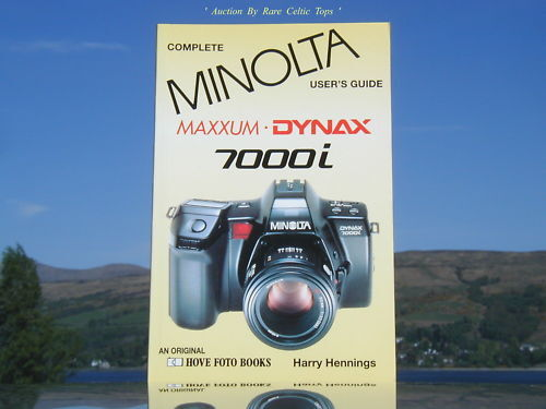 New Complete Users Guide Minolta Dynax 7000i Hove Book
