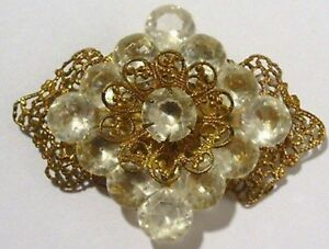 broche-ancienne-bijou-vintage-couleur-or-dentelle-brillant-cristal-diamant-356