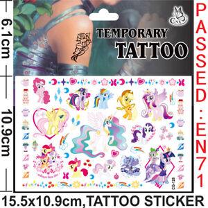 My-little-Pony-Kids-Gift-Temporary-Art-Tattoo-Sticker-Removable-Waterproof