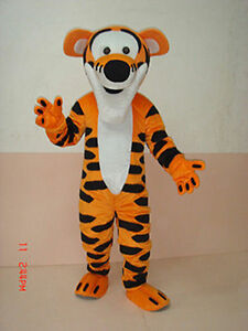 Special offer!Tigger adult mascot costume fancy dress