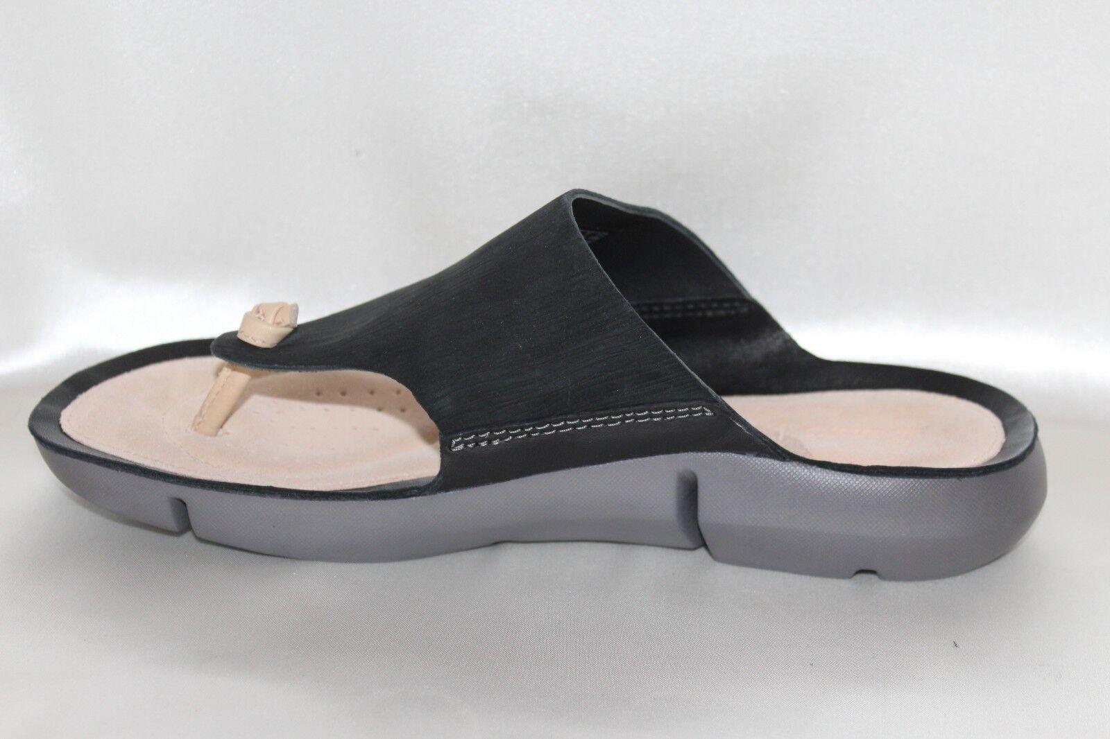 Clarks trigenic Negro Negro Negro Nubuck Tri Carmen Flip Flop Sandalia de tanga talla 8.5 fba9e1