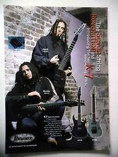 PUBLICITE-ADVERTISING :  Guitare IBANEZ Seven String K7  09/2001 Head,Munky,Korn