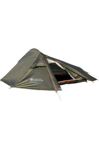 Mountain Warehouse Backpacker 2 Man Camping Tent with Groundsheet in Green