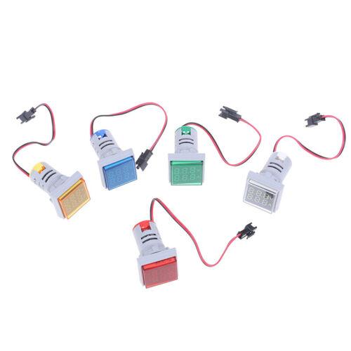 Digital LED Dual Display Voltmeter Ammeter Voltage Gauge Meter AC 60-500V 0-1CRD