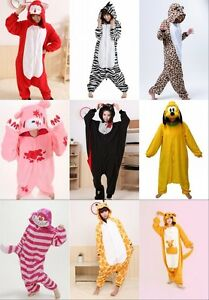 Karneval-Unisex-Adult-Custome-Kigurumi-Tier-Jumpsuit-Kostuem-Sleepwearrobe-S-XL
