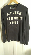 Abercrombie and Fitch Grey Long Sleeve T Shirt Muscle size S fair condition