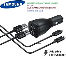 Genuine SAMSUNG DUAL PORT Fast Car Charger For Galaxy S7 S6 Edge NOTE 4 5
