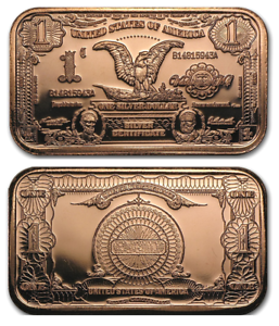 Eagle-1-00-Silver-Certificate-1oz-Pure-Copper-Bullion-Bar