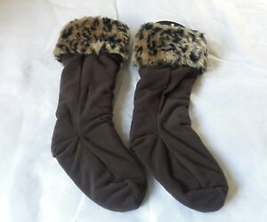 fb6e70ea248 Details about NWT STEVE MADDEN Brown BOOT LINERS - ONE SIZE