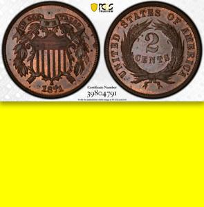 1871-PR64-Doubled-Die-Obverse-Pop-6-ALL-Grades-DDO-Two-Cents-PROOF-2c-Piece