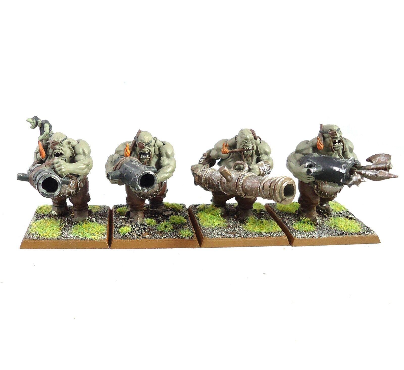Warhammer Fantasy   Age Of Sigmar Army Ogre Kingdoms Leadbelchers x4 Painted