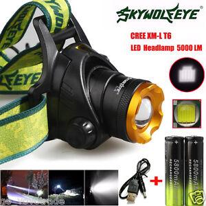 5000LM-CREE-XM-L-T6-Headlamp-Headlight-Head-Light-LED-Rechargeable-USB-Batterie