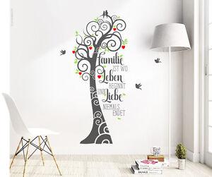 wandtattoo spruch familie ist wo leben beginnt und liebe wandsticker baum ws15 ebay. Black Bedroom Furniture Sets. Home Design Ideas