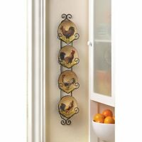 Rooster Wall Decor Plates Ceramic/metal Kitchen 23 H X 1 W X 4.75 D Bird