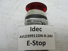 Idec Avld39911dn R 24v E Stop Push To Stop Twist Reset Red Led