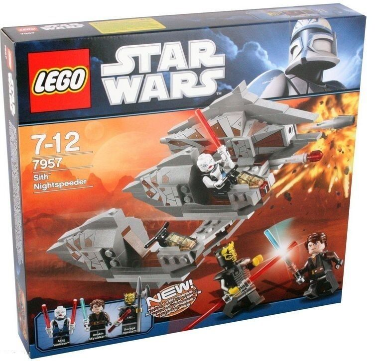 Lego Star Clone Wars 7957 Sith Nightspeeder Asajj Ventress Savage Opress NISB